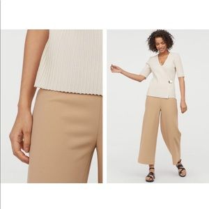 H&M Beige Jersey Culottes- New without Tags!
